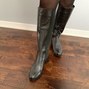 Brooks Brothers leather knee boots